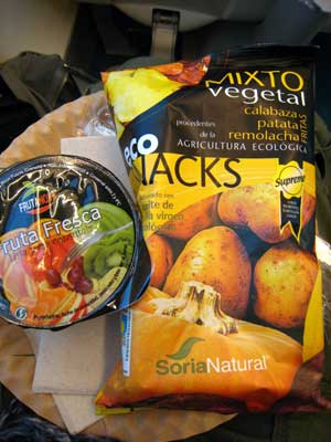 snacks a bordo
