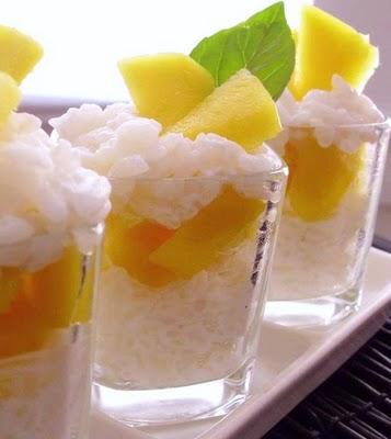 postre de mango y arroz