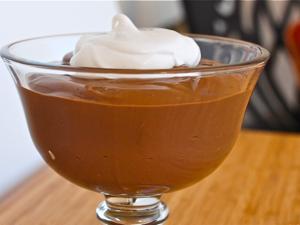 pudding de chocolate y cacahuete