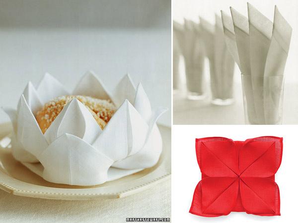 formas de doblar servilletas