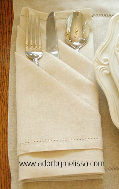 Triple Pocket Napkin Fold Tutorial - Ador by Melissa