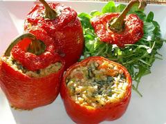 pimientos rellenos de verduras