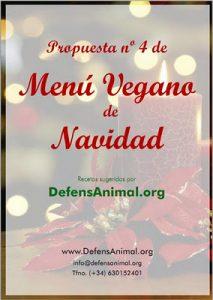 menú de  navidad de DefensAnimal