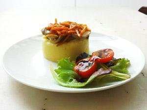 Tapa vegana en la Taberna Vegetariana Gaia (A Coruña)