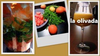 Zumo de papaya, naranja, limón y hojas de zanahoria