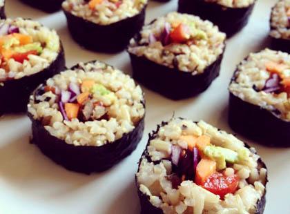 Receta de sushi (vegano) de Semillas de calabaza