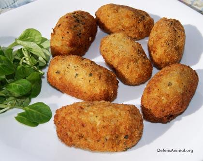 Croquetas veganas de arroz y patata