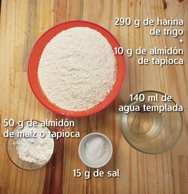 Ingredientes para udon