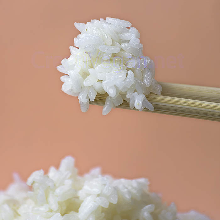 Arroz japonés cocido