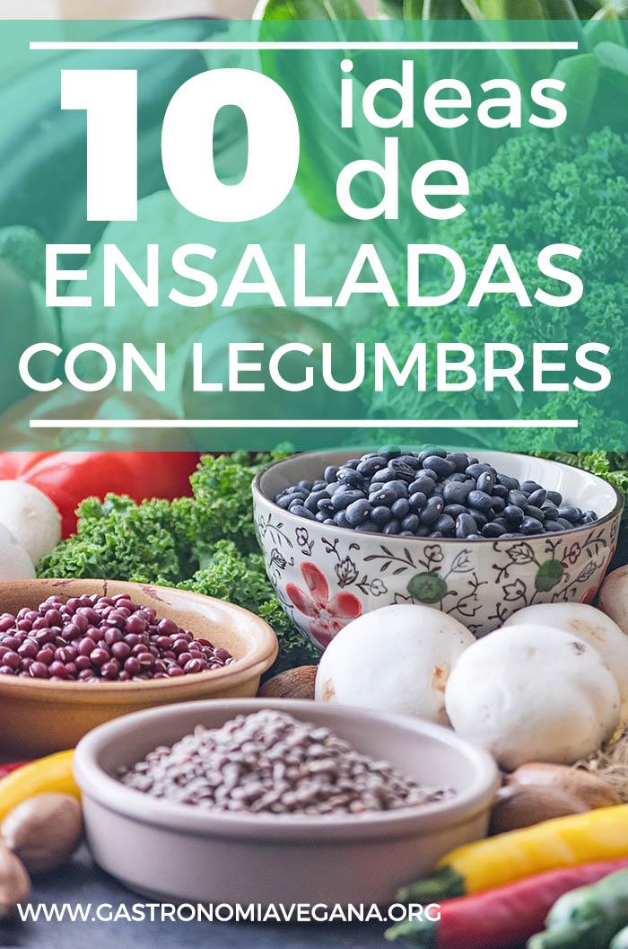 10 ideas de ensaladas con legumbres - GastronomiaVegana.org