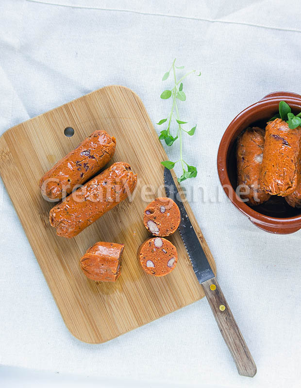 Chorizos veganos de CreatiVegan
