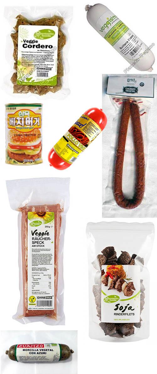 Embutidos y carnes vegetales