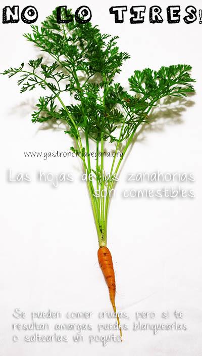 Las hojas de las zanahorias son comestibles