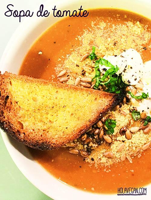 Sopa de tomate - HolaVegan.com