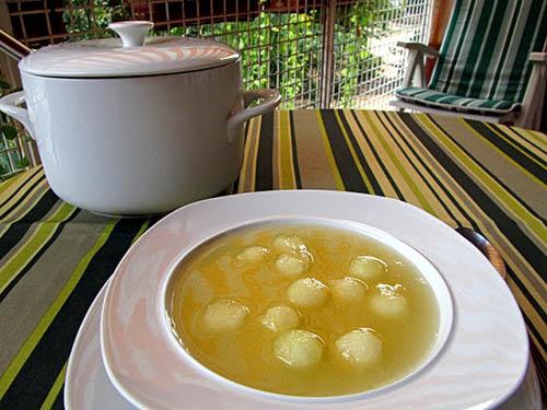 Sopa fría de melón - Cocina con Luz Verde