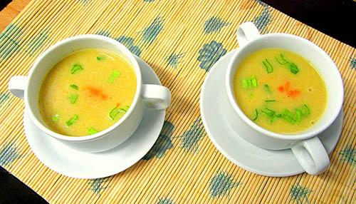 Crema de puerro y manzana - Cocina con Luz Verde