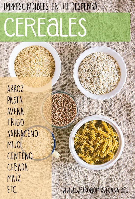 Alimentos imprescindibles en una despensa vegana: cereales -- GastronomiaVegana.org