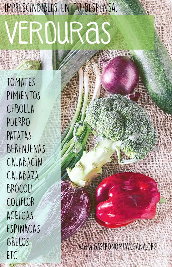 Alimentos imprescindibles en una despensa vegana: verduras y hortalizas -- GastronomiaVegana.org
