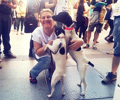 Silvia y perretes