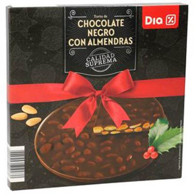 Torta de chocolate negro con almendras Dia
