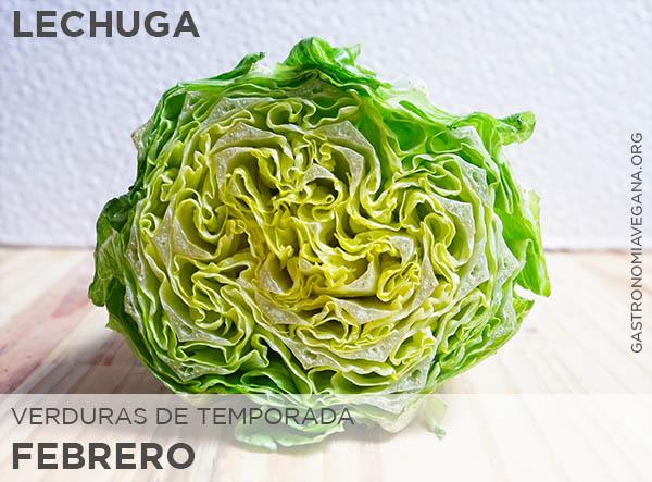 Verduras de temporada en febrero: lechuga