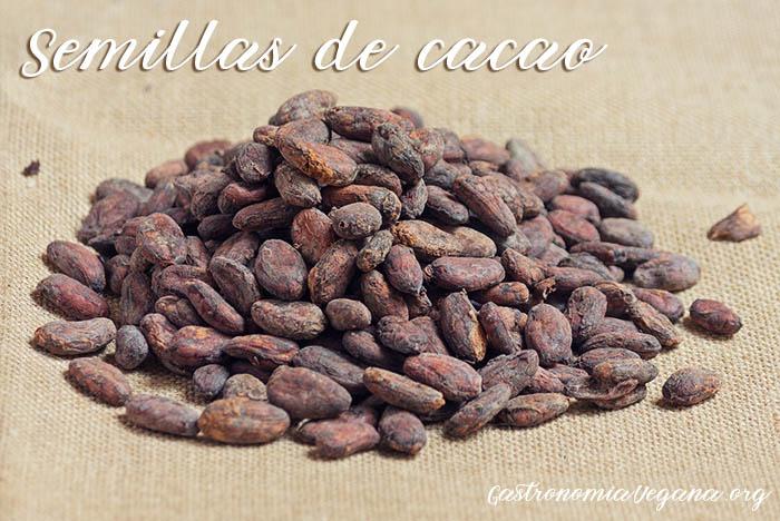 Semillas de cacao crudas