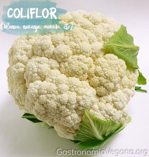 Coliflor - Verduras y hortalizas que se pueden comer crudas - GastronomiaVegana.org