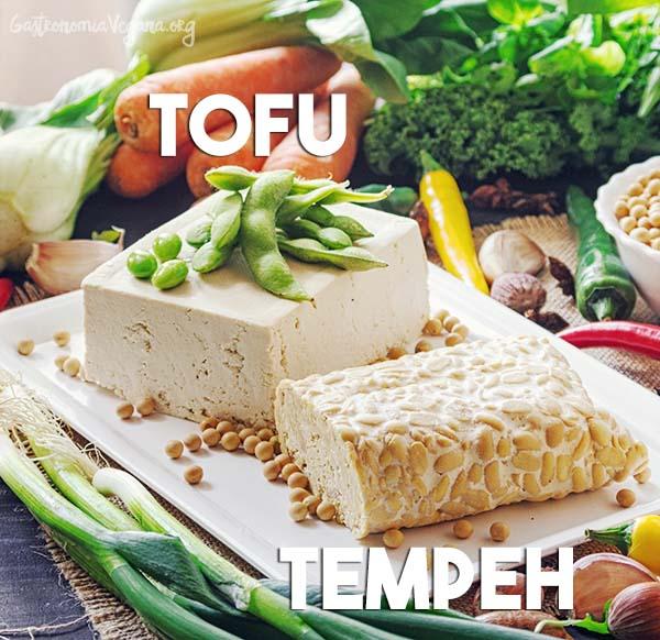 Tofu y tempeh - Derivados de las legumbres - GastronomiaVegana.org