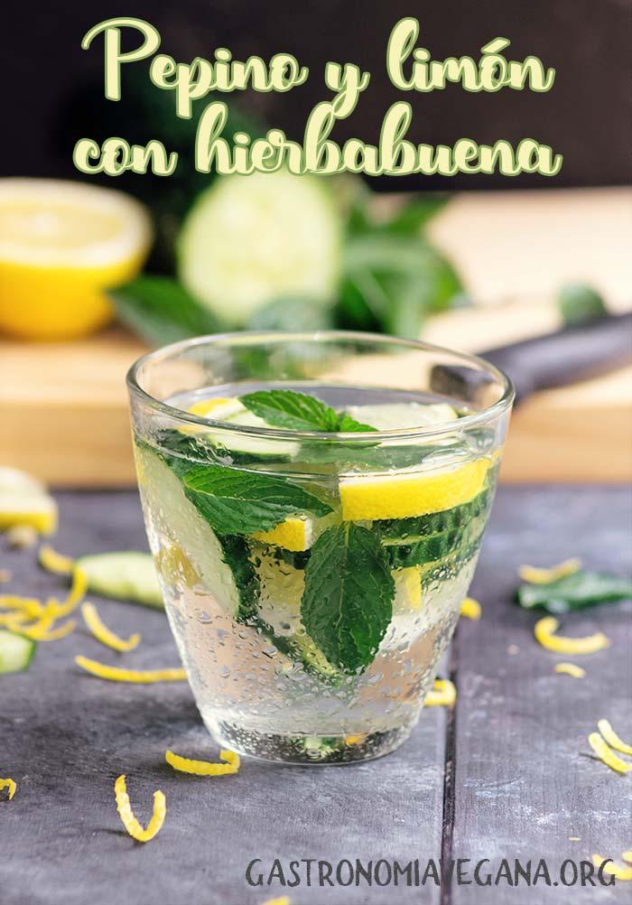 Aguas aromatizadas: pepino y limón - GastronomiaVegana.org