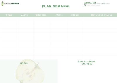 Planificador semanal de recetas y lista de la compra