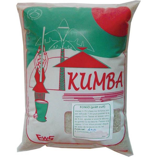 Ejemplo de paquete de Fonio de la marca Kumba
