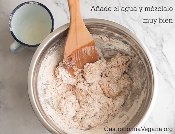 Cómo hacer pan integral casero sin amasado - proceso