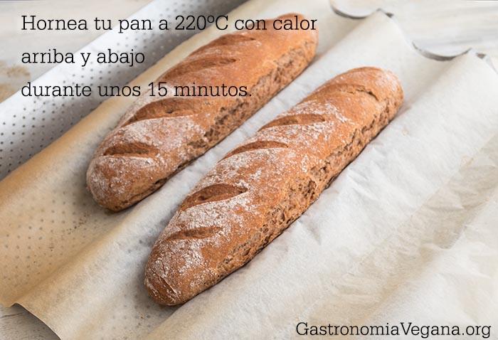 Cómo hacer pan integral casero sin amasado - pan terminado