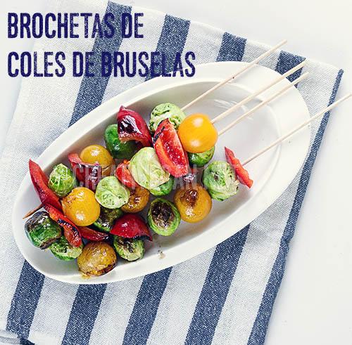 Brochetas de coles de bruselas - Cómo cocinar con coles de bruselas