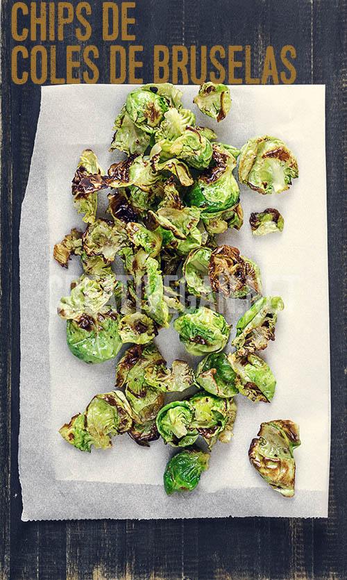 Chips de coles de bruselas - Cómo cocinar con coles de bruselas