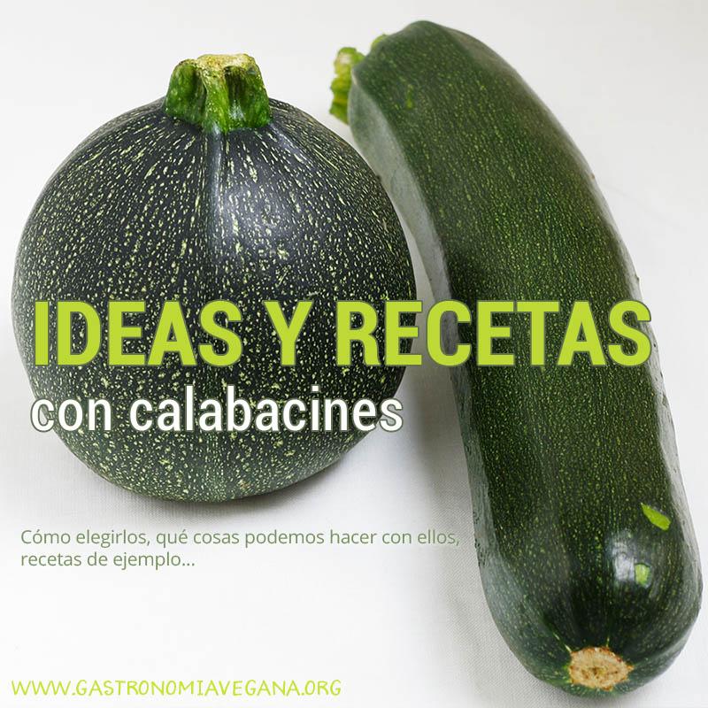 Ideas y recetas 100% vegetales con calabacines - GastronomiaVegana.org