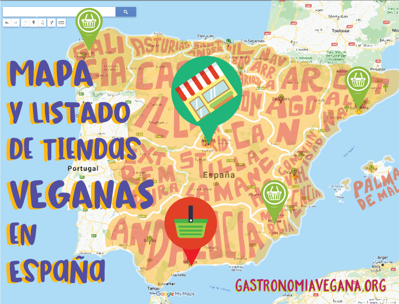 Mapa y listado de tiendas veganas en España