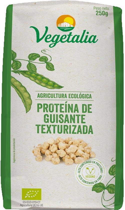 Proteína de guisante texturizada
